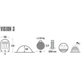 High Peak Vision 3 Tent black